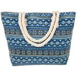 Equilibrium Jewellery Blue Aztec Tote Bag