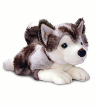 Soft Plushy Husky Toy Animal Thumbnail 1