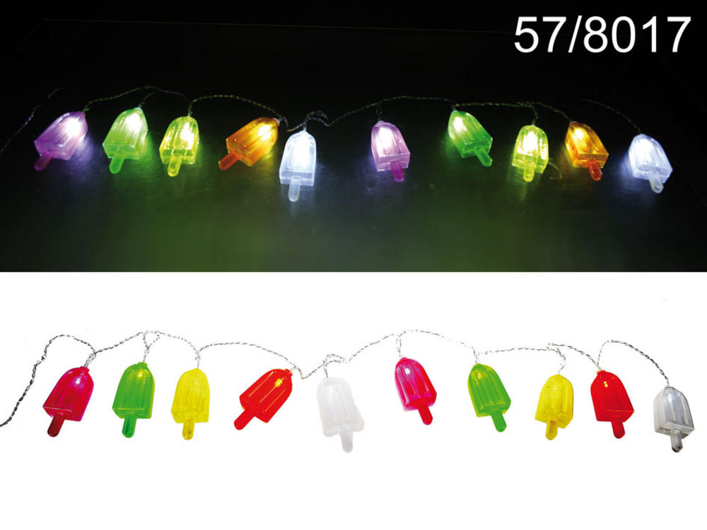 Fairy Light Chain With 10 Led Ice Lollys L:1.65m