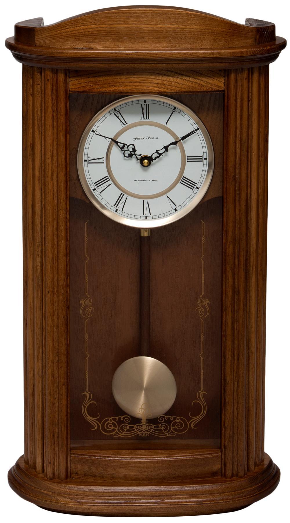 Mayfair Oak Pendulum Clock with Westminster Chimes