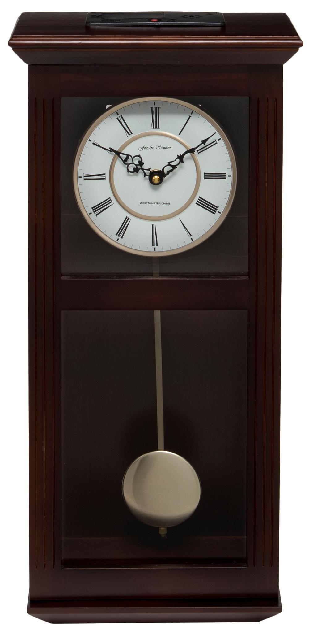 Ashton Walnut Pendulum Clock with Westminster Chimes