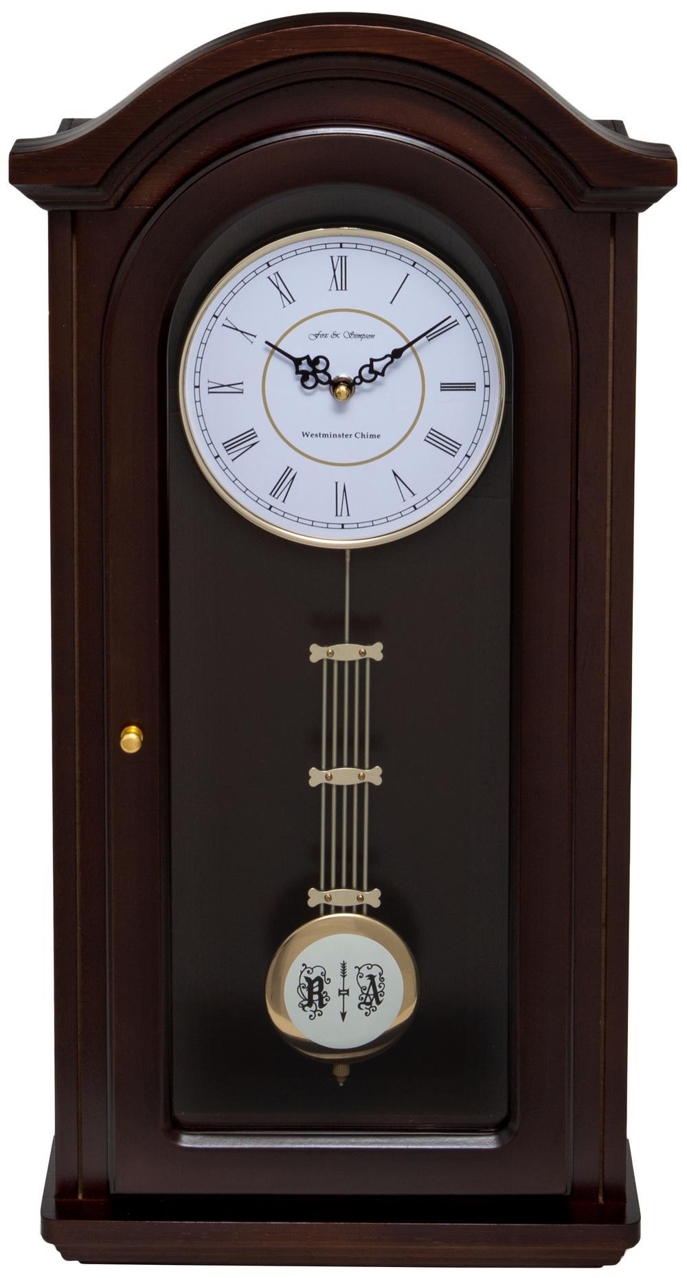 Burnley Walnut Pendulum Clock with Westminster Chimes