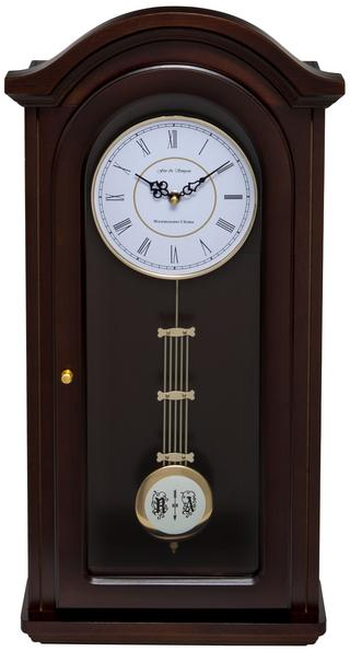 Burnley Walnut Pendulum Clock with Westminster Chimes Thumbnail 1