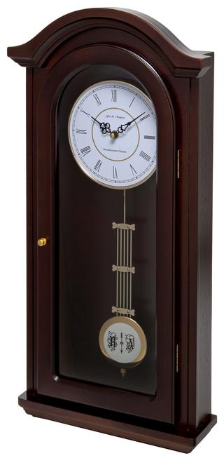 Burnley Walnut Pendulum Clock with Westminster Chimes Thumbnail 2