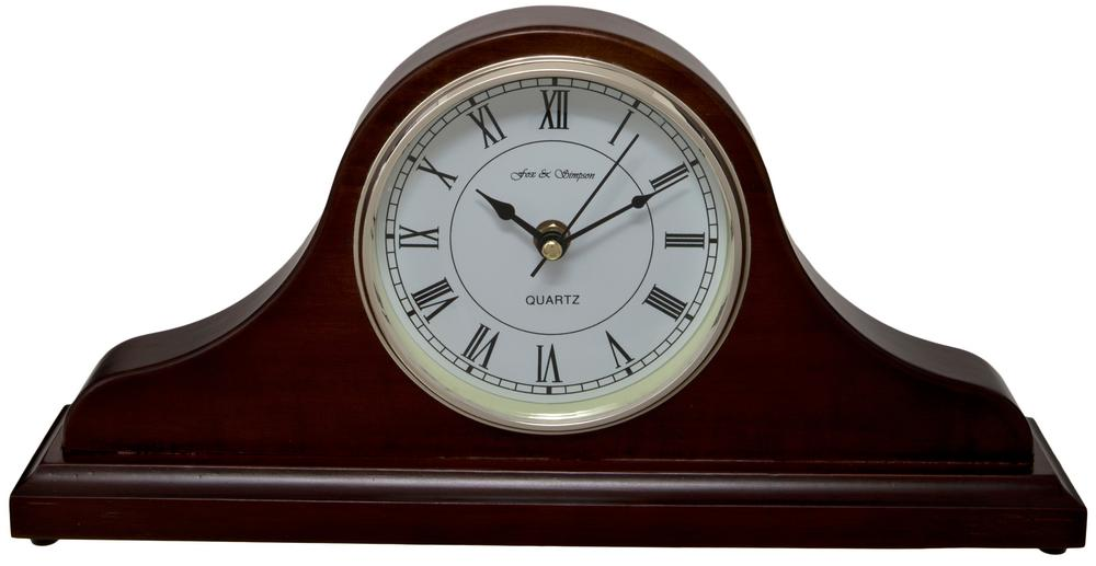 Horseway Walnut Napoleon Style Mantel Clock