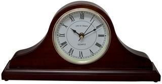 Horseway Walnut Napoleon Style Mantel Clock Thumbnail 1