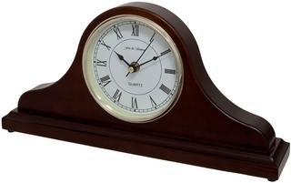 Horseway Walnut Napoleon Style Mantel Clock Thumbnail 2