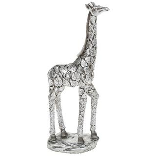 Fabulous Silver Giraffe Standing With Leave Detail Figure Ornament New & Boxed Thumbnail 1