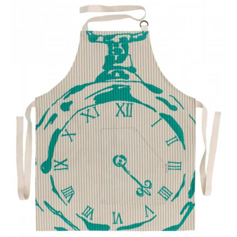 Becky Broome Pocket Watch Apron Beige & Turquoise
