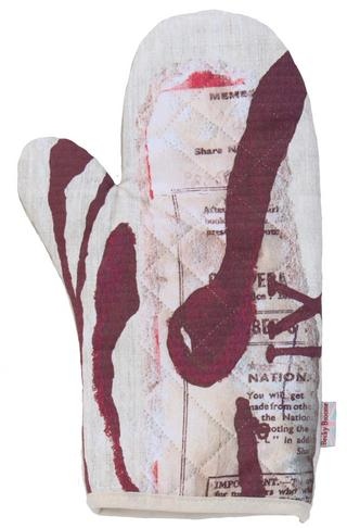 Becky Broome Co-Op Book Printed Cotton Oven Glove Thumbnail 1
