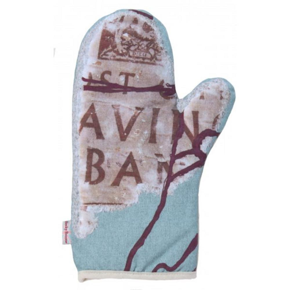 Becky Broome Savings Book Printed Cotton Oven Glove