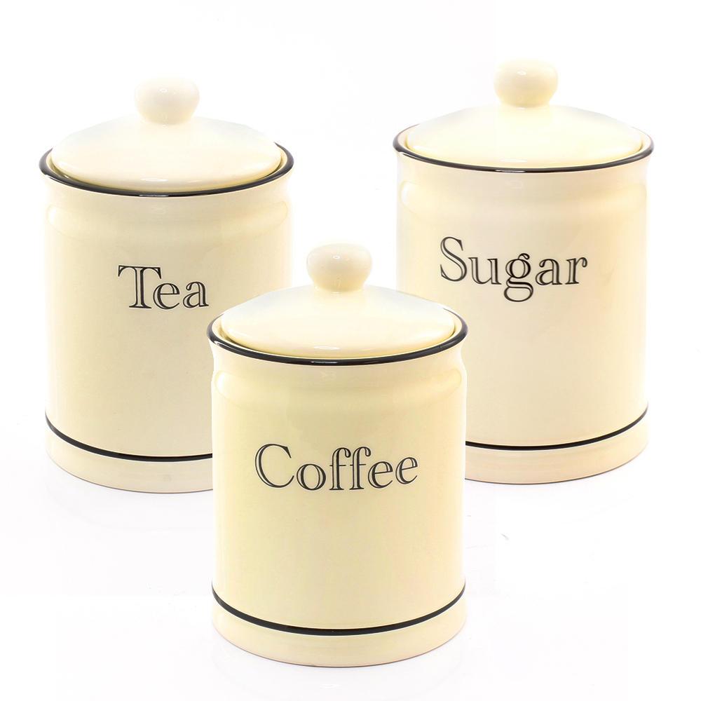 Cottage Kitchen Cream Tea Coffee Sugar Set