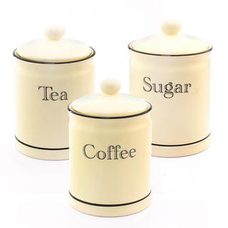 Cottage Kitchen Cream Tea Coffee Sugar Set Thumbnail 1