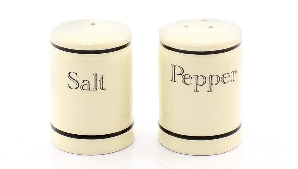 Cottage Cream Kitchen Salt & Pepper Set