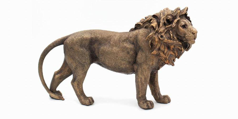 Reflections Bronze Lion Stand