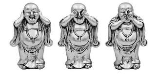 Silver Buddah Set of 3 Thumbnail 1