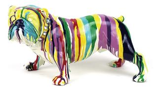 Multi Coloured Paint Dripped British Bulldog Thumbnail 1