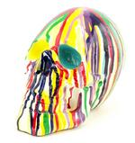 Colourful Art Skull Ornament