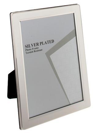 "Buy Silver Plated Flat Edge Photo Frame - 4""X6"", 5""X7"", 6""X8"" 10""X8"" Gift Thumbnail 1"