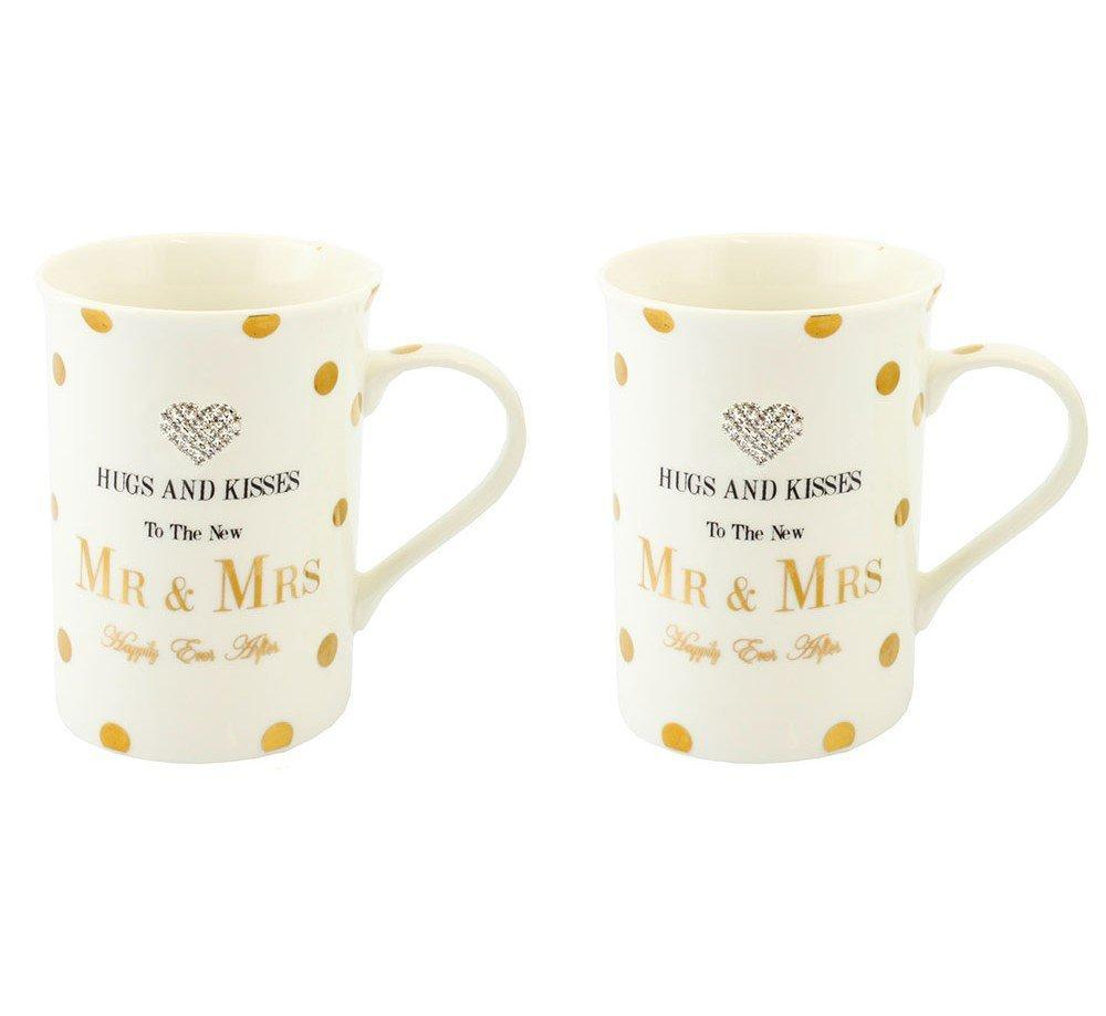 Mad Dots Mr Mrs Mugs Pair