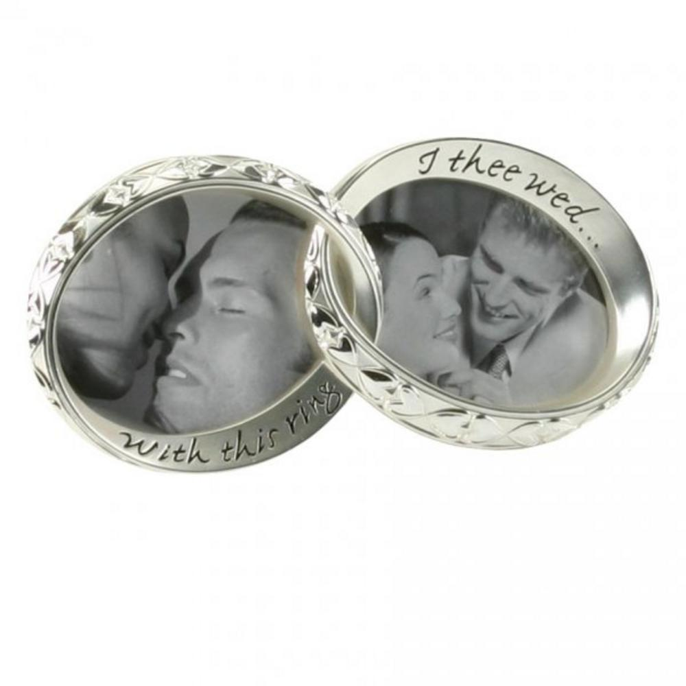 Juliana With This Ring I Thee Wed Silver Plated Wedding Picture Photo Frame