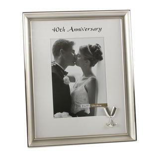 "Juliana 40Th Wedding Anniversary Flure Design Photo Frame 5"" X 7"" Thumbnail 1"