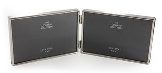 Silver Plated Double Frame 4 x 6 Thumbnail 1
