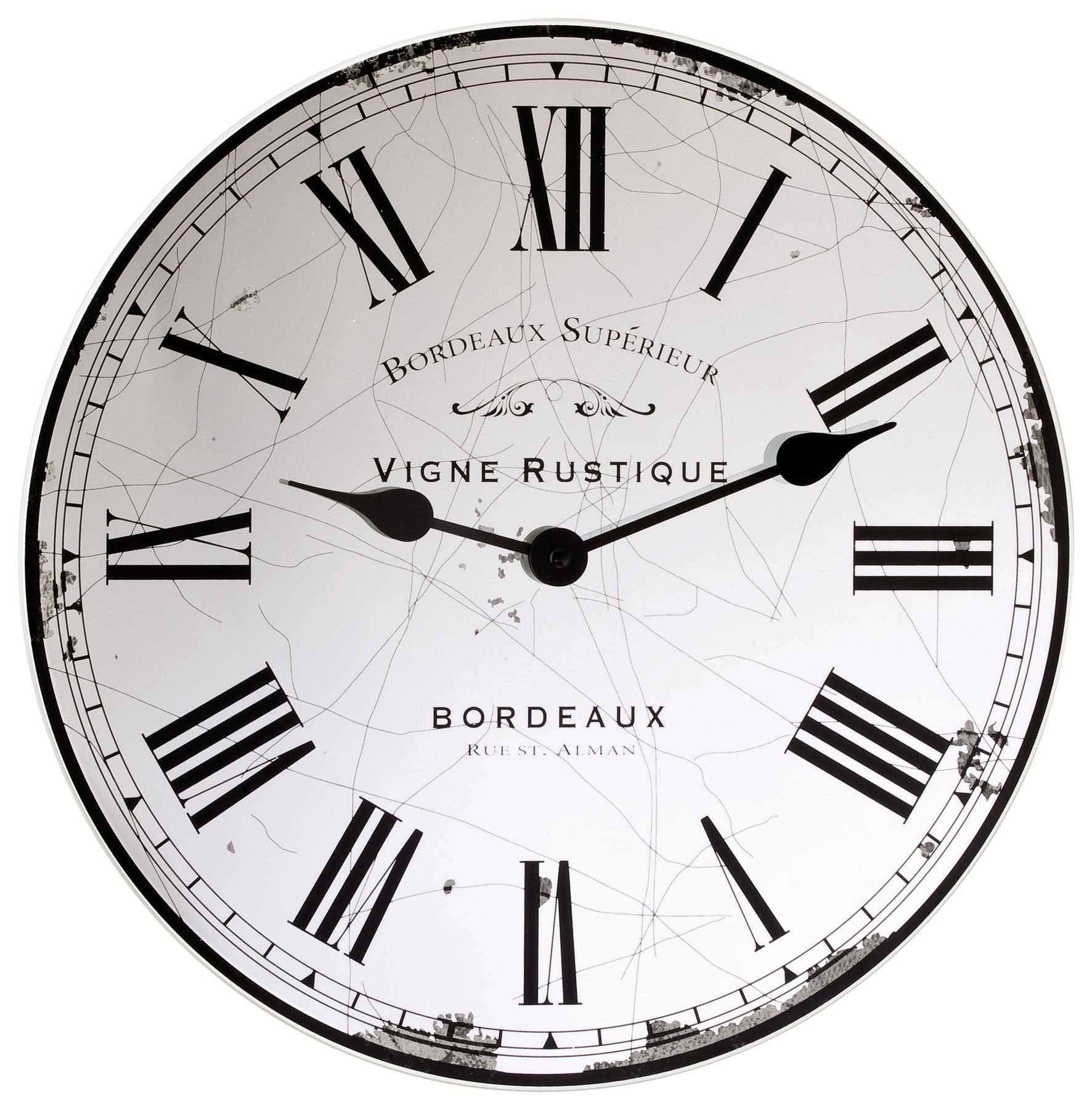 London Clock Company Vigne Rustique Miroir Horloge Murale