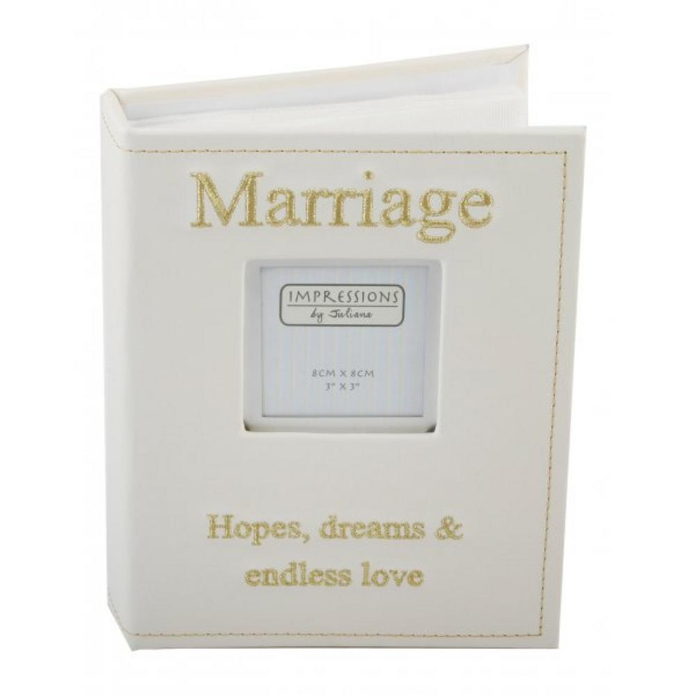 Juliana Faux Leather Picture Photo Album With Beautiful Inscription - Marriage