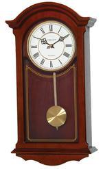 London Clock Company Mahogany Finish Westminster Chime Pendulum Clock