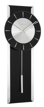 London Clock Company Designer Modern Contemporary Sleek Black Pendulum Clock