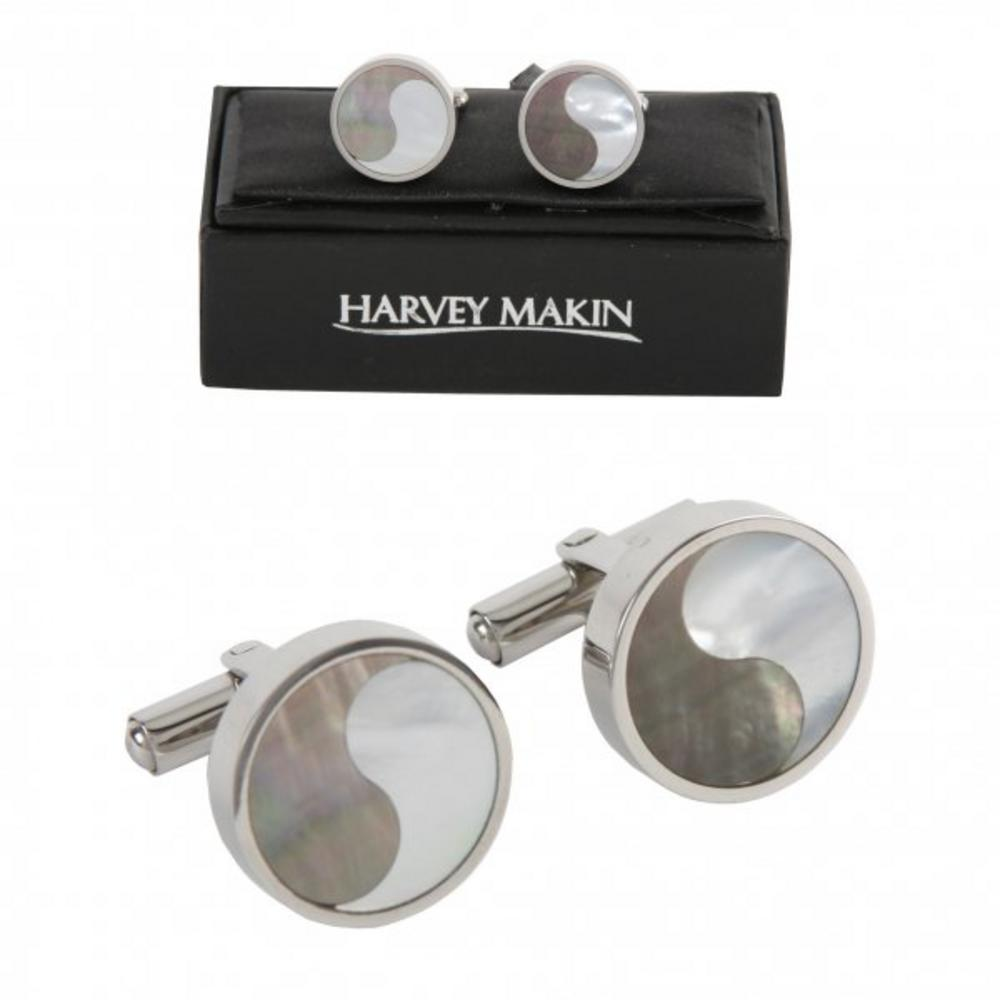 Harvey Makin Contemporary Stainless Steel Cufflinks