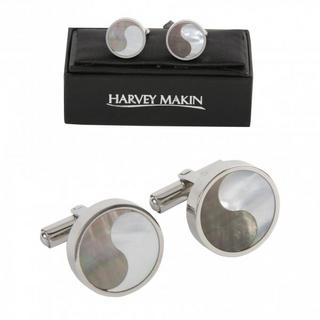 Harvey Makin Contemporary Stainless Steel Cufflinks Thumbnail 1