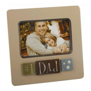 "New View Layered Number 1 Dad Photo Frame - 6"" X 4"" Thumbnail 1"