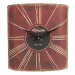HOME TIME ANTIQUE METAL EFFECT KENSINGTON WALL CLOCK