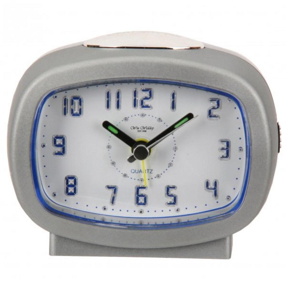 Backlight Led Arabic Dial Silver Alarm Clock