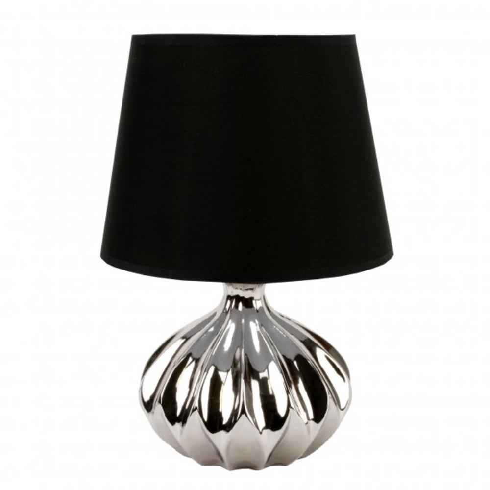 Juliana Home Living Chrome Ovel Ridge Table Lamp With Lamp Shade