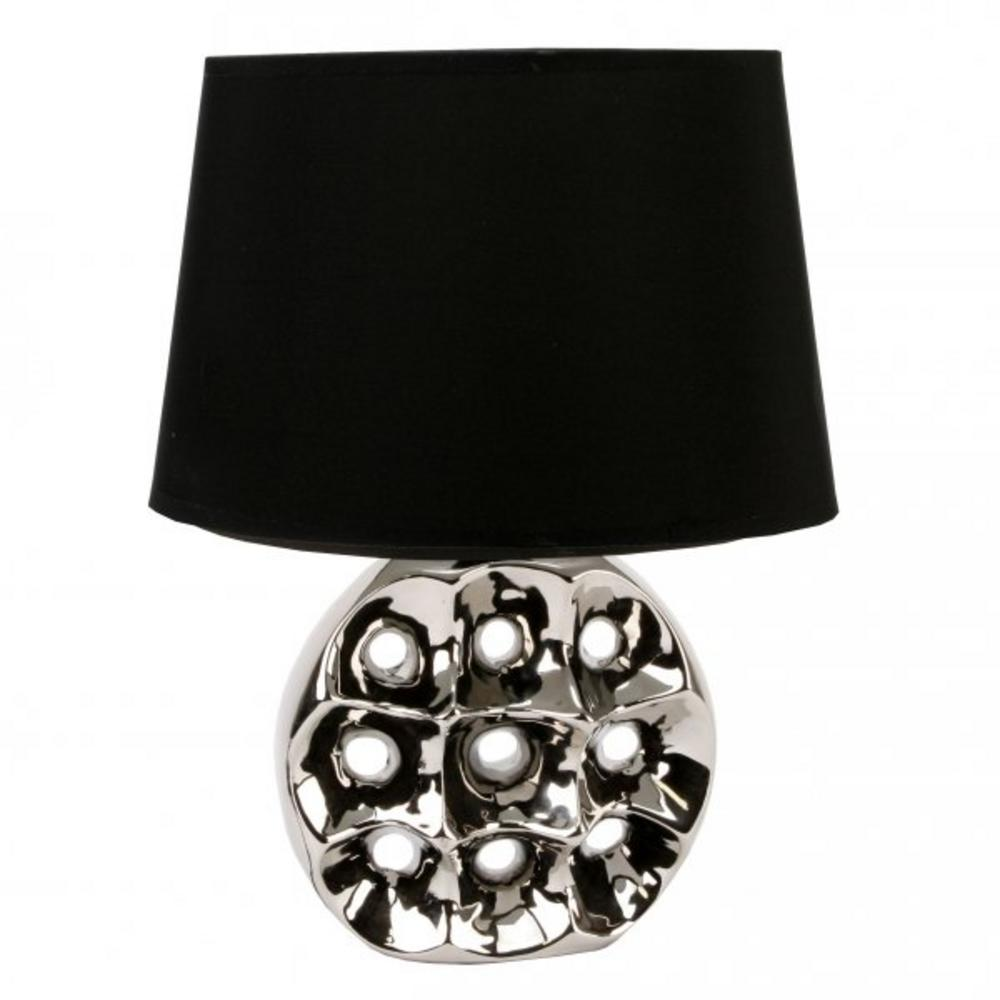 Juliana Home Living Chrome Circle & Hole Table Lamp With Lamp Shade