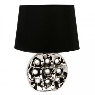 Juliana Home Living Chrome Circle & Hole Table Lamp With Lamp Shade Thumbnail 1
