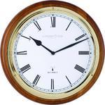 London Clock Company Radio Controlled Traditional Walnut Wall Clock