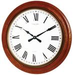 LONDON CLOCK COMPANY EXTRA LARGE TRADITIONAL OAK FINISH WALL CLOCK 54CM