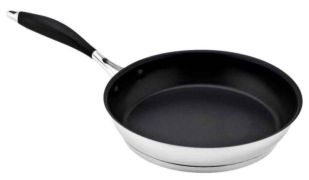 Charterhouse Cooksworld 26Cm Stainless Steel Fry Frying Pan W. Platinum Teflon