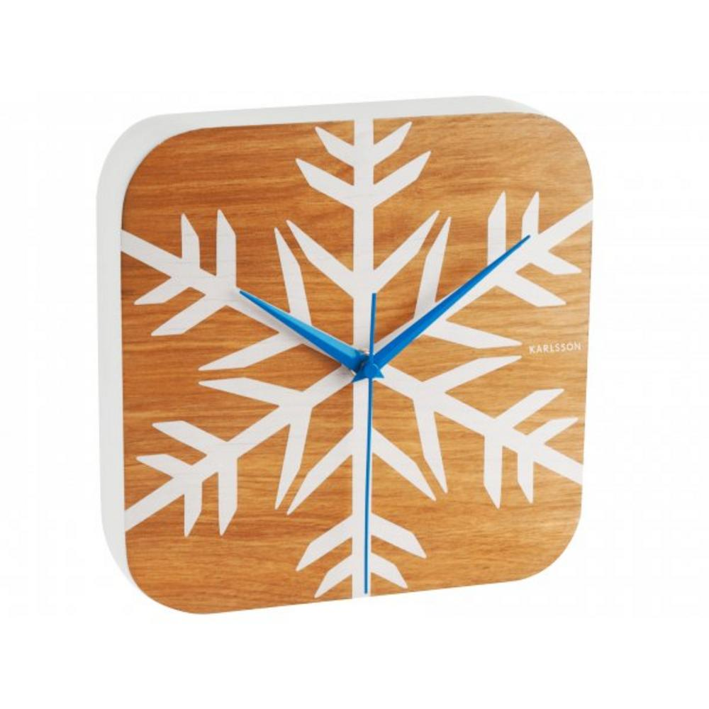 Karlsson Frosted Wood Vaneer Heavy Modern Wall Clock