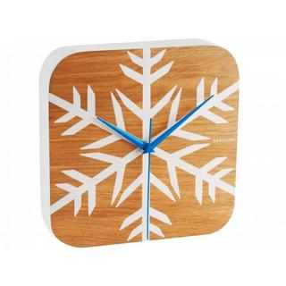 Karlsson Frosted Wood Vaneer Heavy Modern Wall Clock Thumbnail 1
