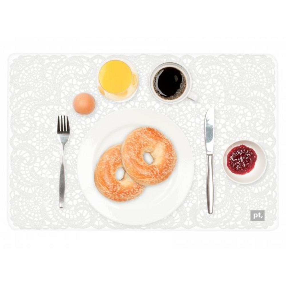 Pt Home Three Dimensional 3D Breakfast Bagel Place Table Dining Placemat Mat