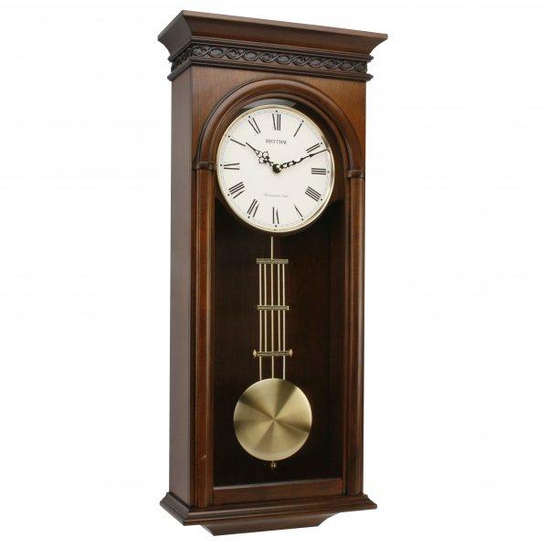 Rhythm Japan Westminster Chime Alder Wood Pendulum Wall