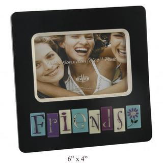 """New View Contemporary """"Friends"""" Black Tile Picture Photo Frame 6"""" X 4"""" Thumbnail 1"""