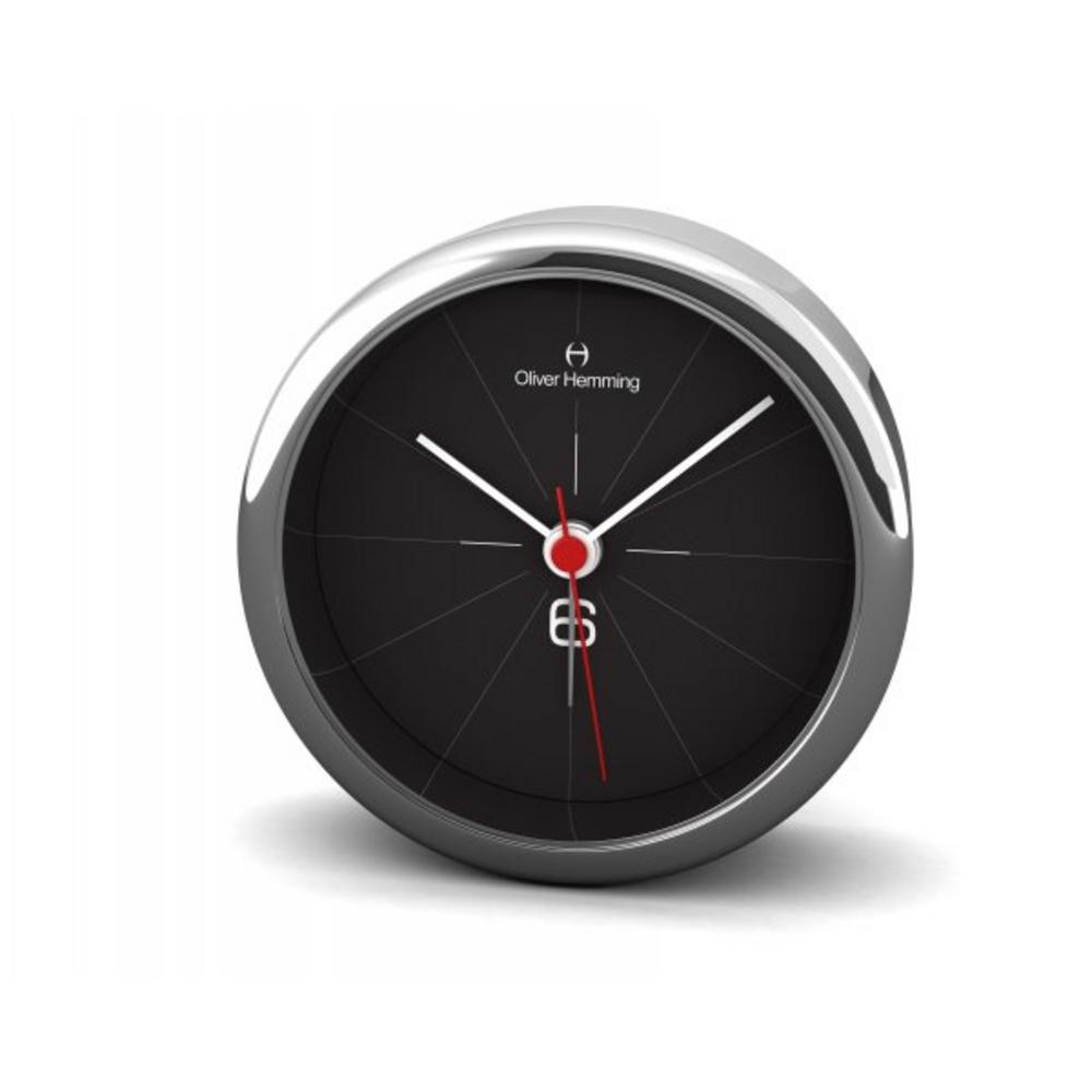 Oliver Hemming 8Cm Chrome Alloy Contemporary Desire Silent Baton Alarm Clock