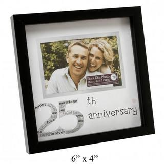"New View Contemporary 25Th Wedding Anniversary Picture Photo Frame 6"" X 4"" Thumbnail 1"