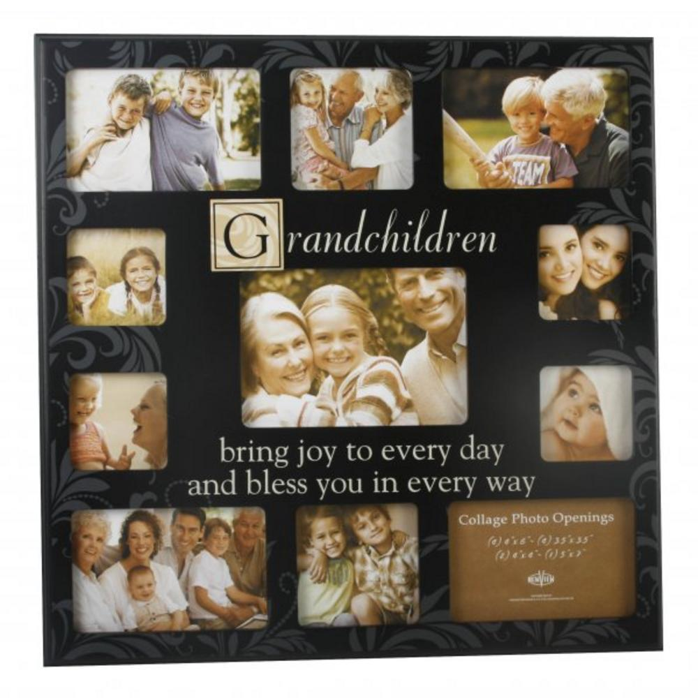 New View Collage Elevan Piece Aperature Grandchildren Photo Frame - Great Gift